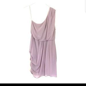 ASOS natural one shoulder draped minidress size 12